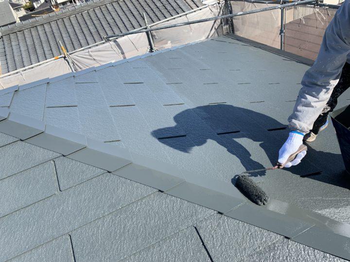 屋根・上塗り