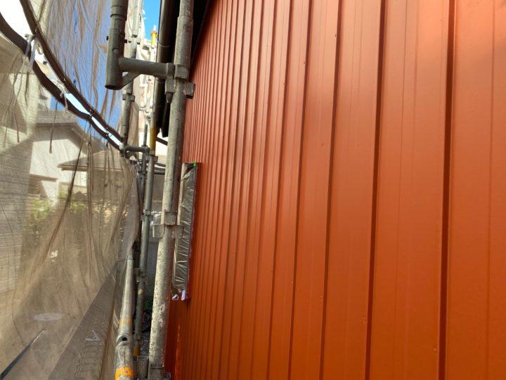 倉庫外壁・下塗り