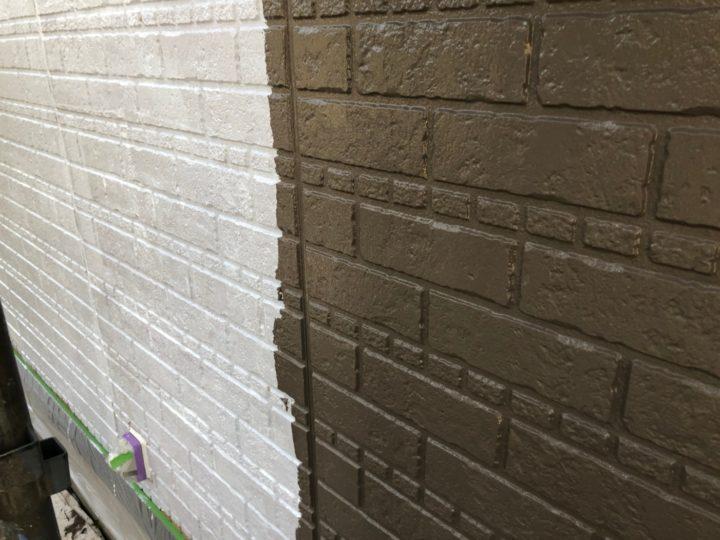 外壁塗装・中塗り