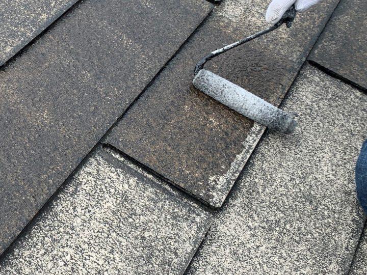 屋根・下塗り