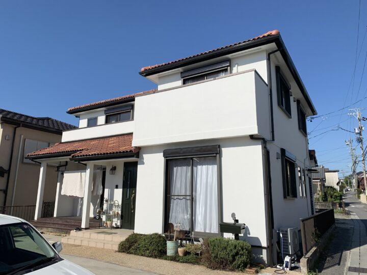 白色の塗り替えで、西洋風なイメージに!|武豊町O様邸 外壁塗装工事