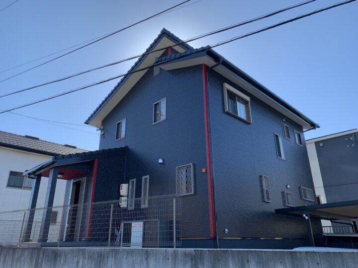 アクセントカラーがポイント!|武豊町N様邸 外壁塗装工事