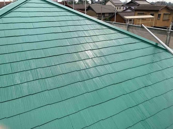 屋根 中塗り完了