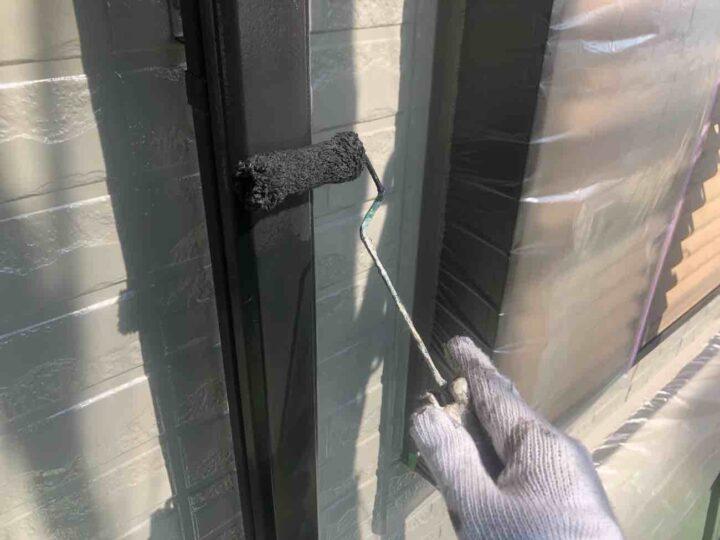 雨樋 中塗り 施工状況