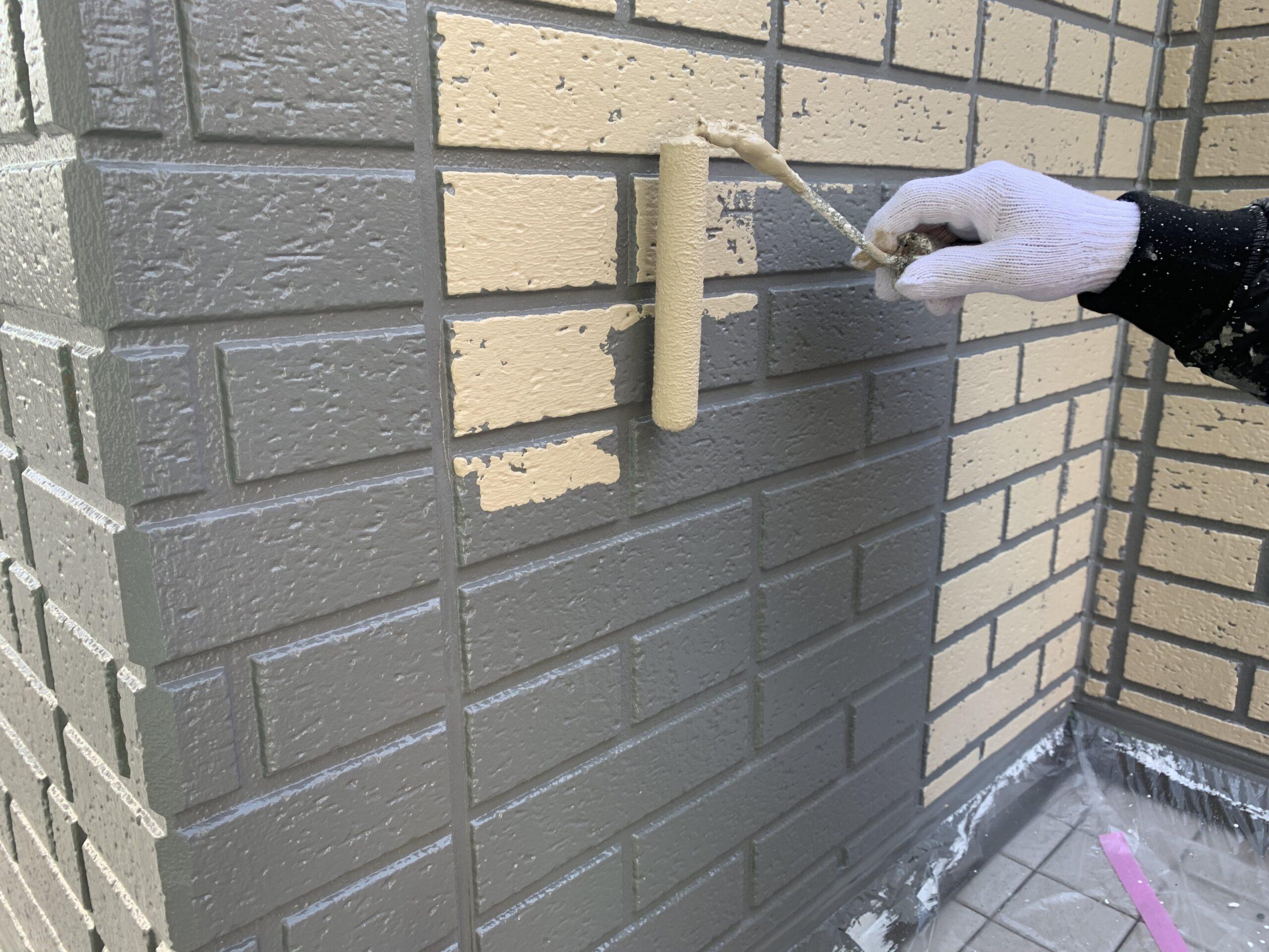 常滑市 外壁塗装 仕上げ作業