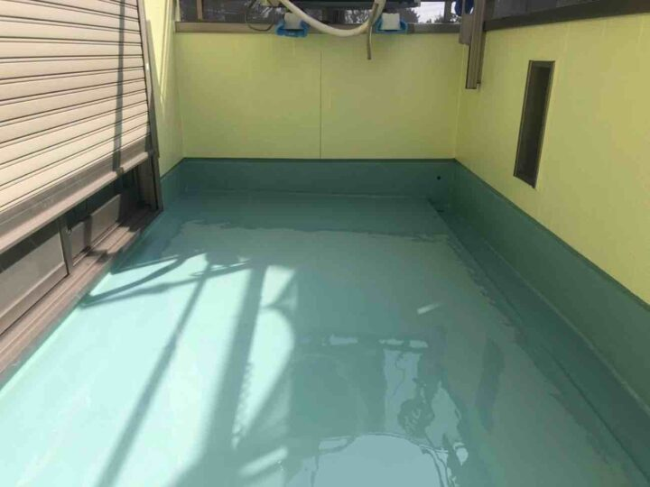 ウレタン防水2層目