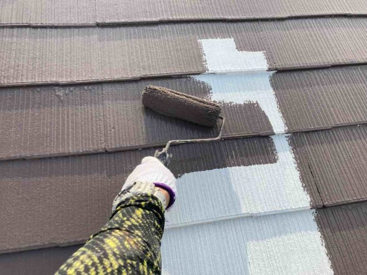 屋根 中塗り